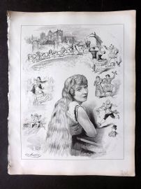 E. C. Mountfort - Dart 1880's Political Cartoon. The Pantomimes